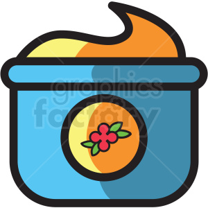 lotion jar vector icon clipart