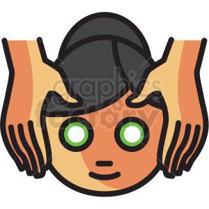 facial massage vector icon clipart clipart. Royalty-free image # 409610