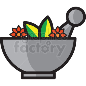 bowl salad vector icon clipart