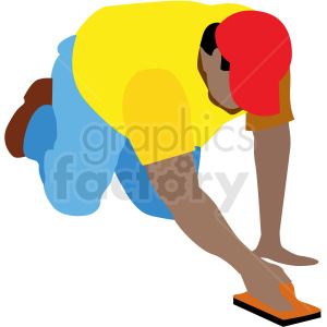 man working on concrete vector clipart clipart. Commercial use image # 409643