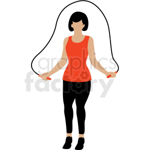 woman jump roping vector clipart clipart. Royalty-free image # 409645
