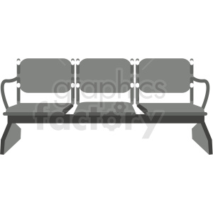 airport waiting seats image clipart. Commercial use image # 409698