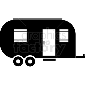 camper trailer icon clipart clipart. Commercial use image # 409705