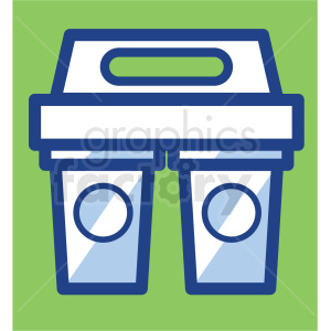 coffee cups in carrier vector icons clipart. Royalty-free image # 409724