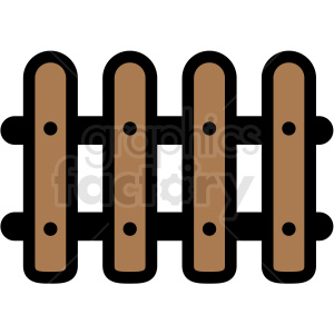 picket fence clipart. Commercial use image # 409730