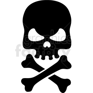jolly roger skull and bones vector clipart clipart. Royalty-free image # 409734