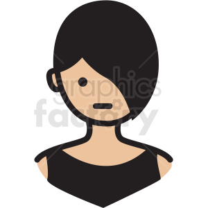 pretty girl avatar vector clipart clipart. Royalty-free image # 409754