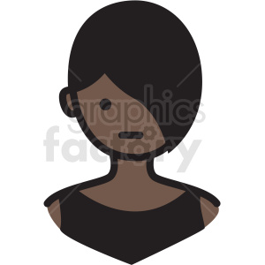 pretty black woman avatar vector clipart clipart. Royalty-free image # 409756