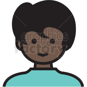 black teenage girl avatar vector clipart clipart. Royalty-free image # 409771