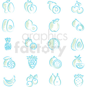 food icon set clipart. Royalty-free icon # 409784