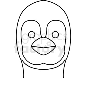 black and white penguin head icon