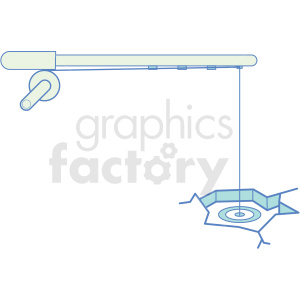 ice fishing icon clipart. Commercial use image # 409809