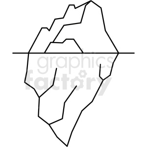 black and white iceberg icon clipart. Royalty-free image # 409810