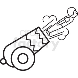 circus cannon shooting man icon clipart. Commercial use image # 409905