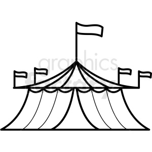 black and white circus tent icon clipart. Royalty-free image # 409929