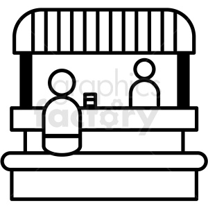 black and white food booth icon clipart. Commercial use image # 409931
