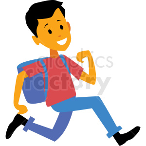 kid running late for school vector clipart clipart. Royalty-free image # 409955