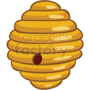 cartoon beehive vector clipart no background