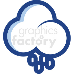 rain cloud vector icon no background clipart. Commercial use image # 410156