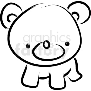 bear drawing vector icon clipart. Royalty-free image # 410253