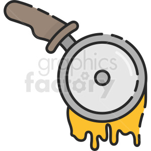 pizza cutter clipart clipart. Royalty-free icon # 410266