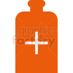 orange prescription bottle vector clipart clipart. Commercial use image # 410269