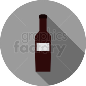 wine bottle vector icon
