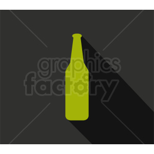 green bottle silhouette clipart on dark background clipart. Commercial use image # 410293