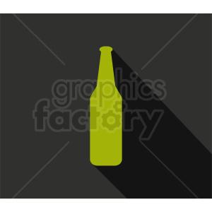green bottle silhouette clipart on dark background