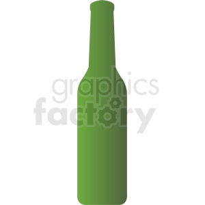 green bottle silhouette clipart on gray background clipart. Commercial use image # 410309