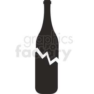broken bottle silhouette vector clipart. Royalty-free image # 410313