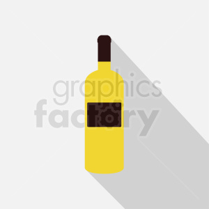 clipart - yellow wine bottle on square background.