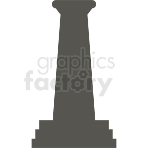 greek column silhouette clipart. Commercial use image # 410393