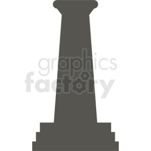 greek column silhouette