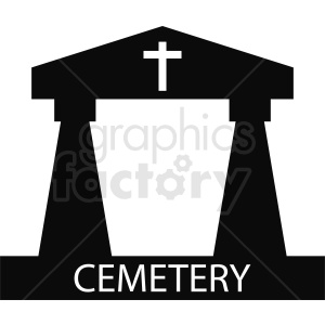 cemetery vector clipart clipart. Commercial use image # 410403