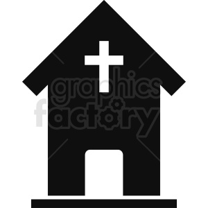 religious building silhouette vector icon no background clipart. Royalty-free image # 410404