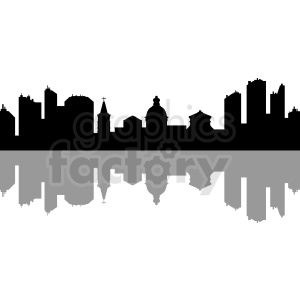 city skyline silhouette clipart. Commercial use image # 410436
