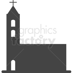 religious building with cross silhouette vector clipart. Royalty-free image # 410438