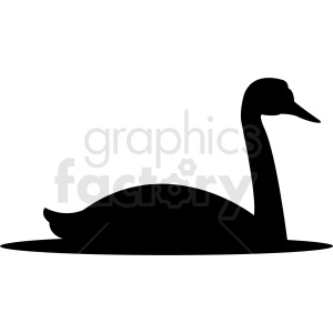 silhouette swan vector clipart clipart. Royalty-free image # 410474