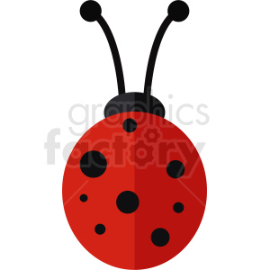 red vector lady bug clipart clipart. Commercial use image # 410483