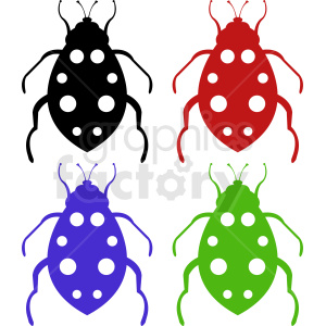 vector bug clipart set clipart. Royalty-free image # 410484