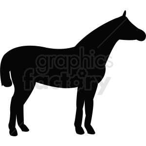 vector horse silhouette outline clipart. Royalty-free image # 410496