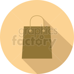 bag on circle background clipart. Royalty-free image # 410503