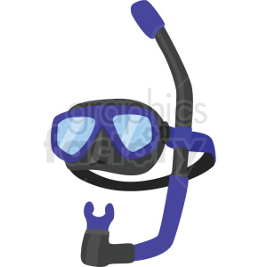 swimming snorkel set vector clipart clipart. Commercial use image # 410574