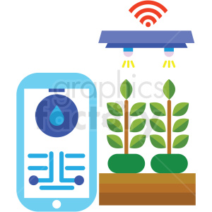 clipart - agriculture wireless control system vector icon.