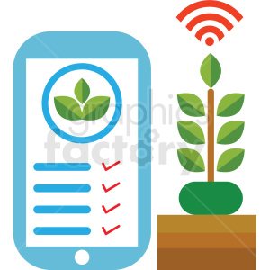 plant mobile climate control system vector icon clipart. Commercial use image # 410621