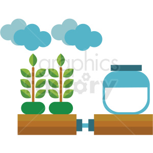 agriculture watering system vector icon clipart. Commercial use image # 410626