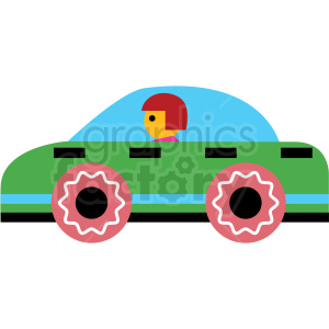 cartoon nascar vector icon clipart. Royalty-free image # 410679