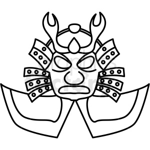 japanese warrior mask vector icon clipart. Commercial use image # 410691