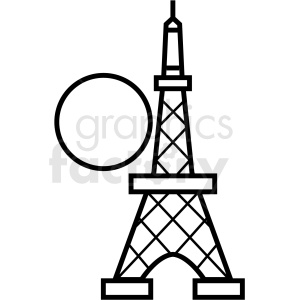 Japan Tokyo tower vector icon clipart. Commercial use image # 410694